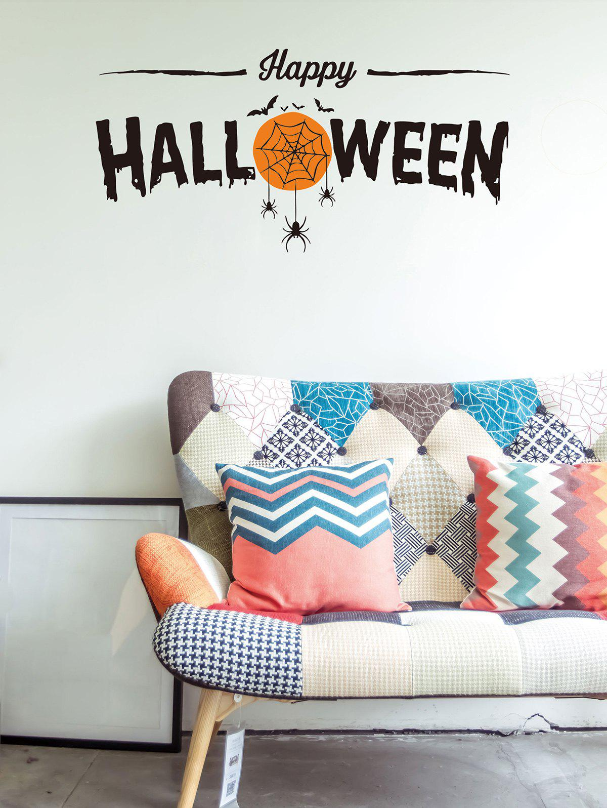 Trendy Halloween Theme Print Wall Sticker for Bedroom
