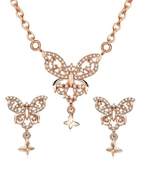 Buy Butterflies Pendant Necklace Stud Earrings