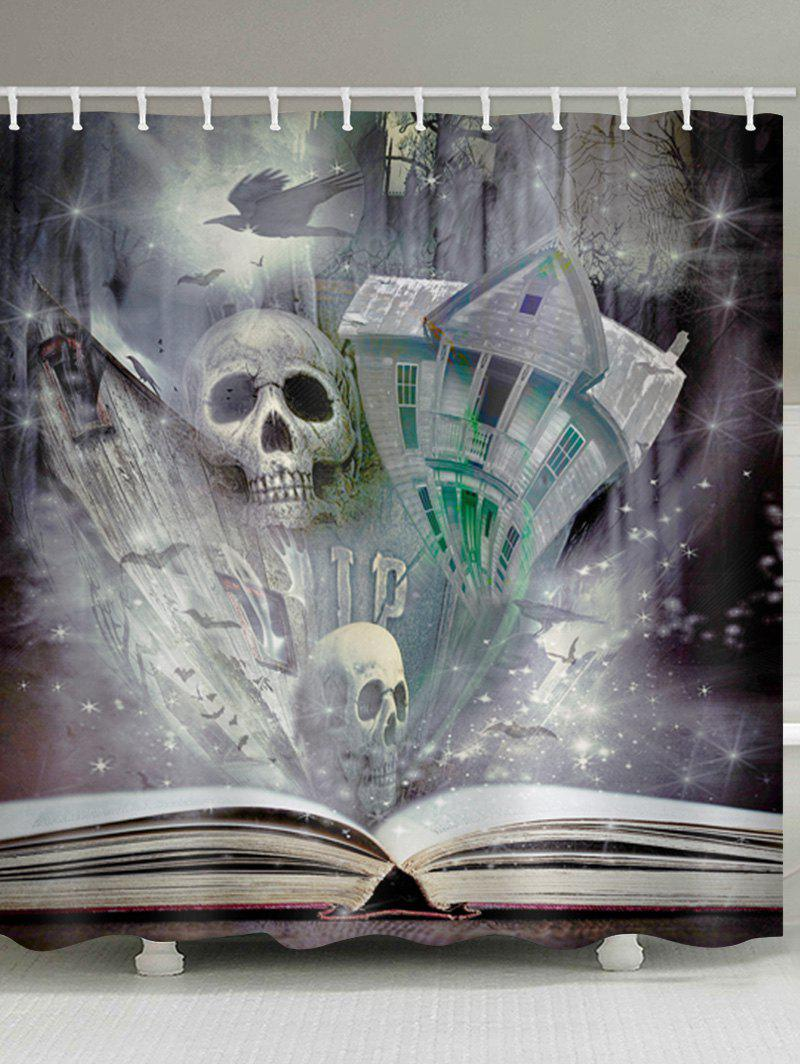 Shop Skull Castle Book Print Waterproof Bathroom Shower Curtain