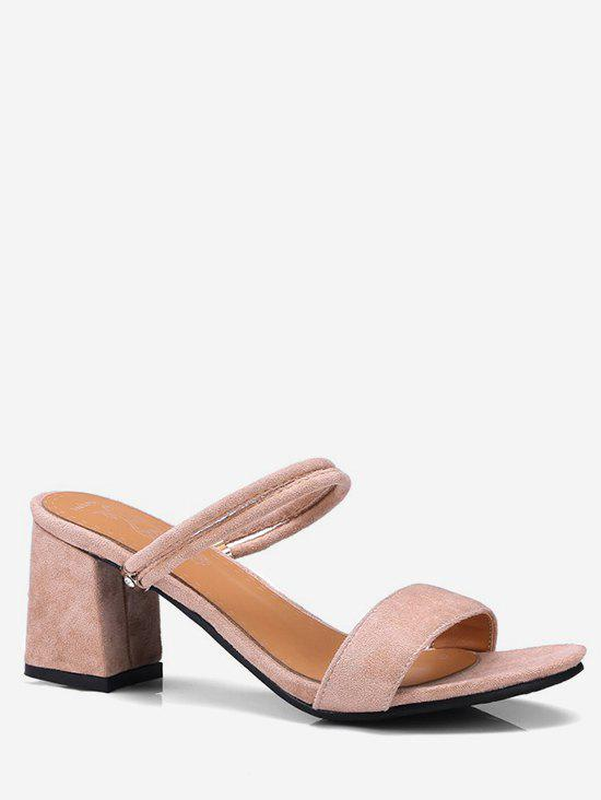 Online Plus Size Chunky Heel Convertible Slingback Sandals