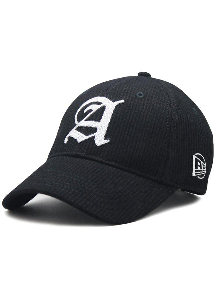 Online Capital A Embroidery Striped Snapback Hat