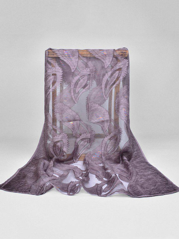 Élégant Feather Long Sheer Foulard