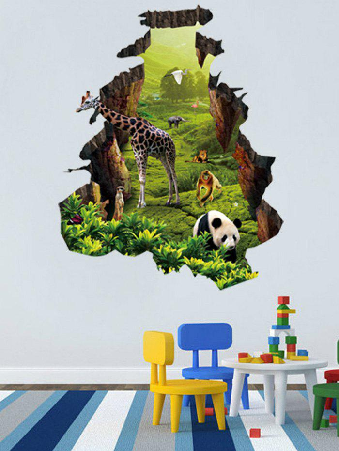Store Natural Forest Animal Home Pattern Wall Decals