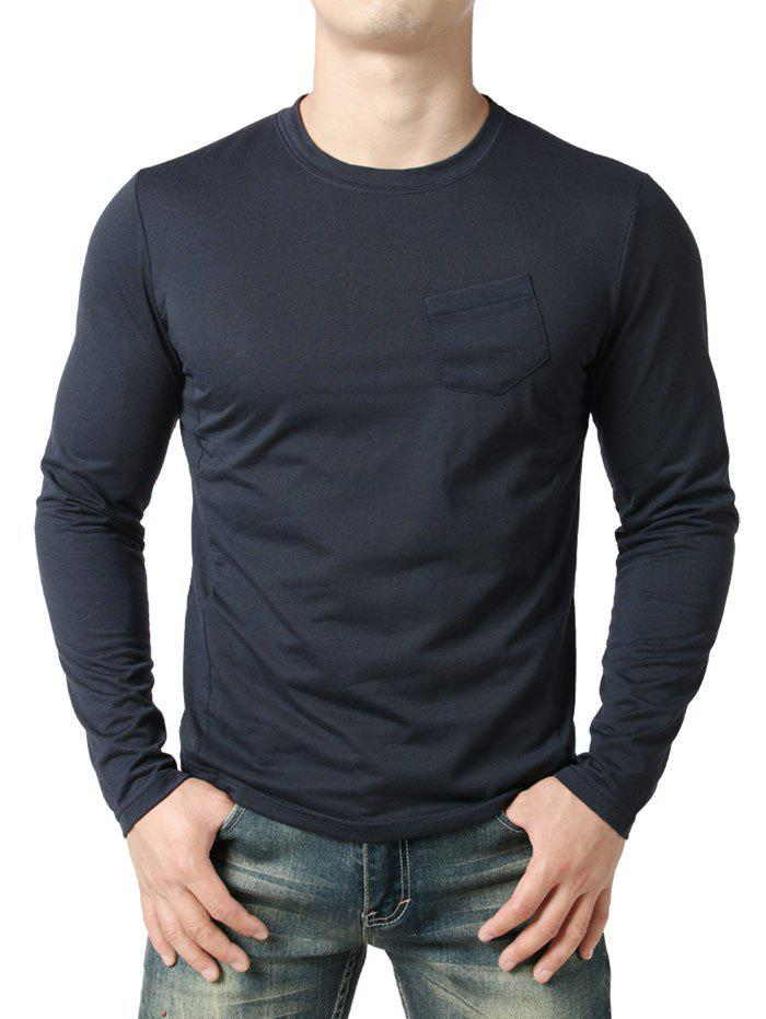 Outfit Chest Pocket Seam Detail Design Casual T-shirt