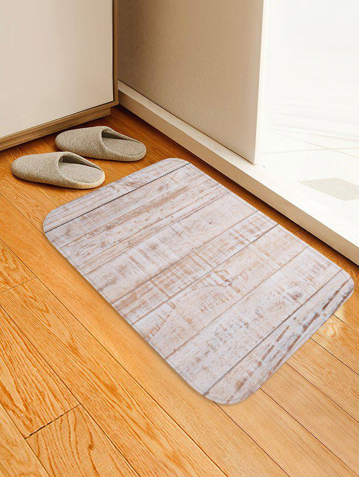 Chic Wood Flooring Pattern Water Absorption Area Rug