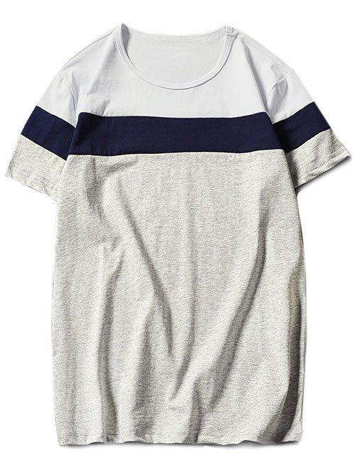 Latest Color Block Short Sleeve T-shirt
