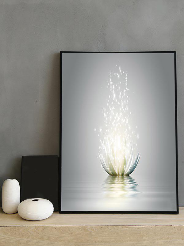 Hot Water Lotus Print Canvas Painting with Frame