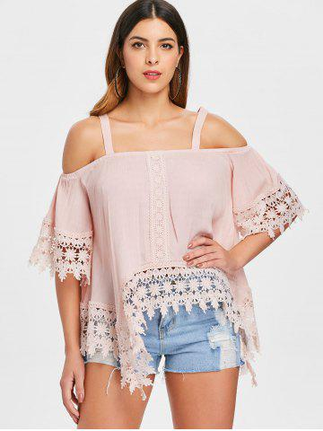 Open Shoulder Lace Insert Top