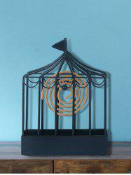 Iron Cage Shape Mosquito Coil Holder Home Decor -