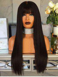 Neat Bang Long Straight Capless Synthetic Wig -