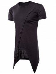 Asymmetric Faux Twinset Short Sleeve Tee -