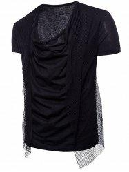 Short Sleeve Voile Embellished T-shirt -