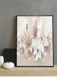 Orchid Flower Print Framed Canvas Painting -