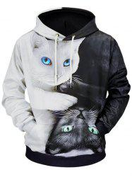 Casual 3D Cats Printed Soft Hoodie -