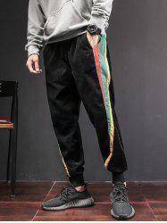 Side Contrast Patch Pocketed Jogger Pants -