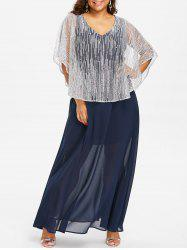 Plus Size Capelet Maxi Dress -