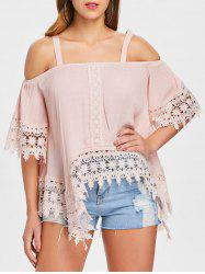 Open Shoulder Lace Insert Top -