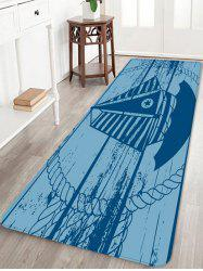 Star Sailboat Print Anti-skid Area Rug -