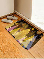 Shinning Christmas Tree Print Absorption Floor Mat -