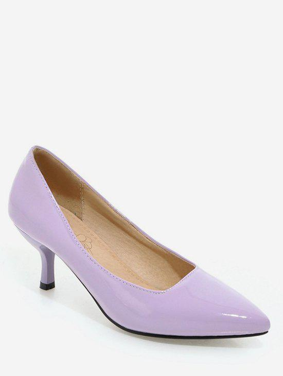Trendy Plus Size Mid Heel Pointed Toe Chic Prom Pumps