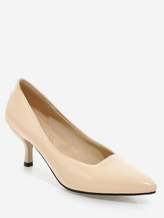 New Plus Size Mid Heel Pointed Toe Chic Prom Pumps
