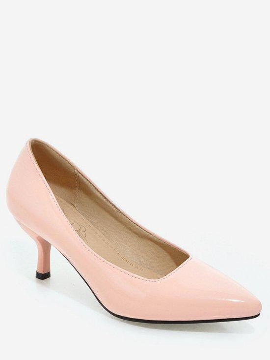 Shops Plus Size Mid Heel Pointed Toe Chic Prom Pumps