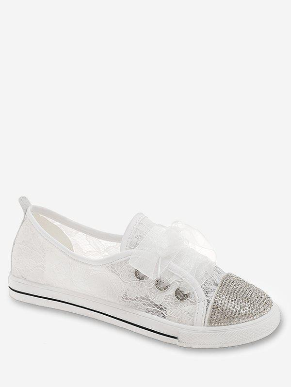 Latest Leisure Crystals Round Toe Sneakers