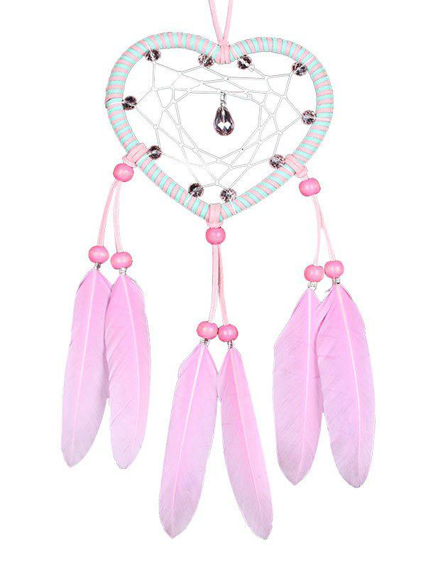 Unique Handmade Feathers Heart Dream Catcher Wall Hanging