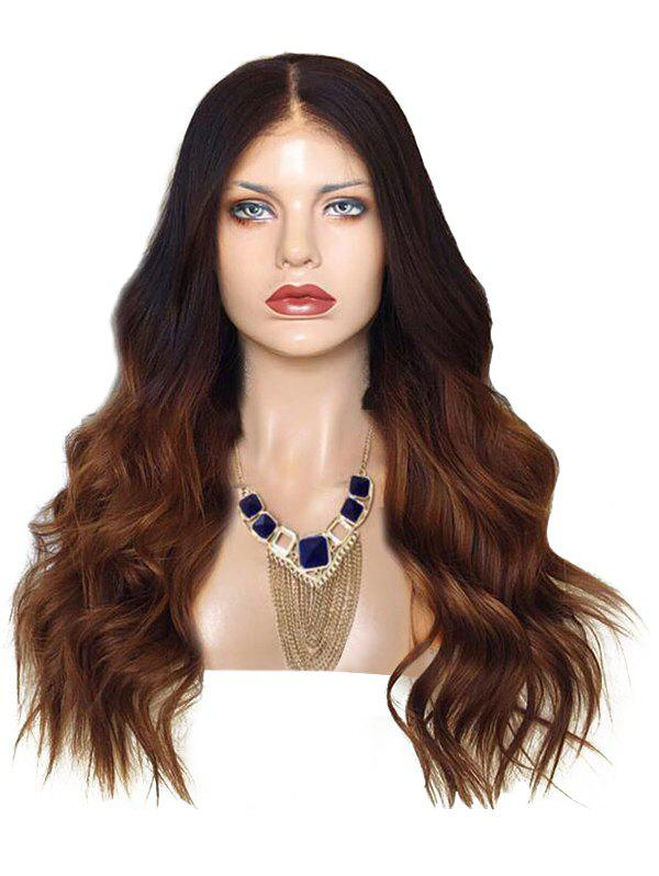 Chic Long Center Parting Ombre Wavy Synthetic Wig