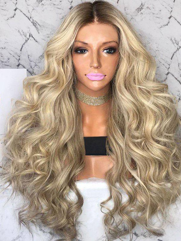 Outfit Long Center Parting Colormix Loose Wave Synthetic Wig