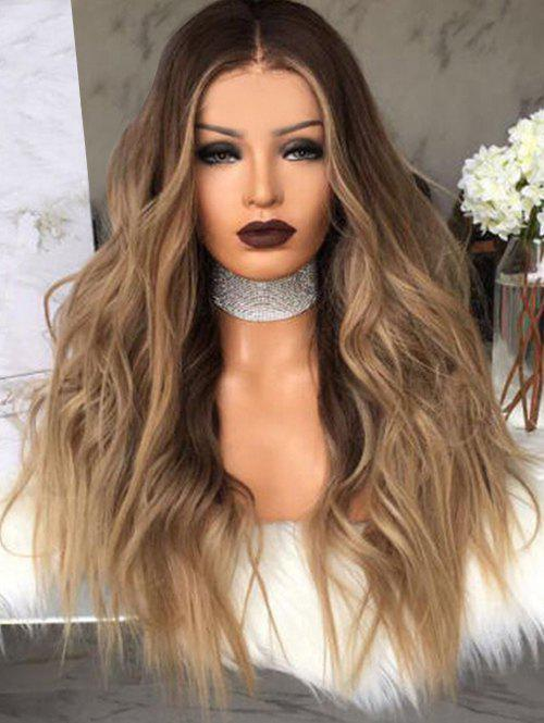 Shops Long Center Parting Colormix Wavy Synthetic Wig