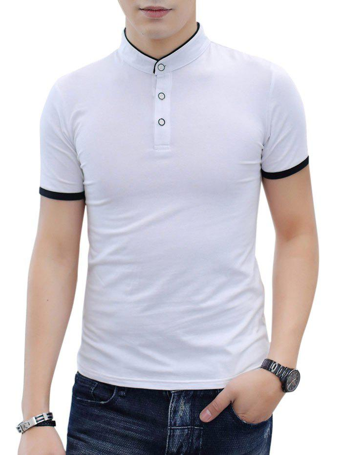 Outfit Contrast Color Short Sleeve Polo Shirt