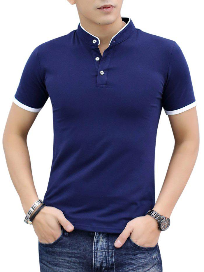 Fancy Contrast Color Short Sleeve Polo Shirt