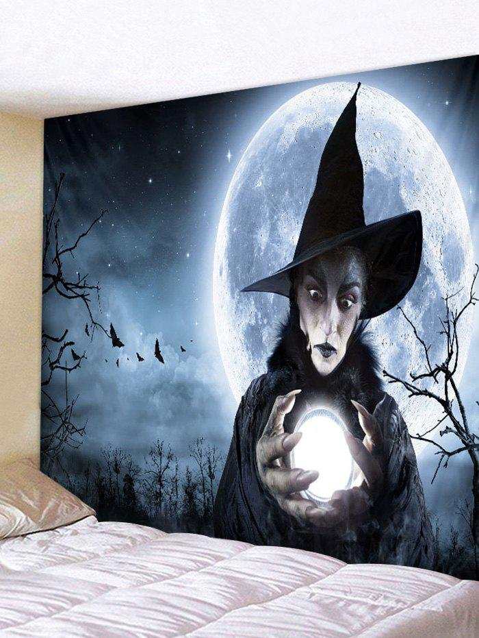 Online Halloween Woman Witch Printed Wall Hanging Tapestry