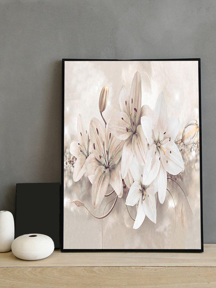 Buy Orchid Flower Print Framed Canvas Painting