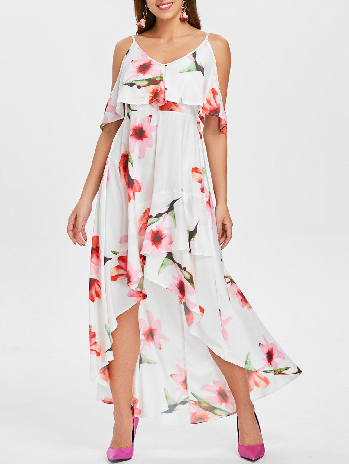 Buy Floral Print Cami Strap Maxi Flowy Dress