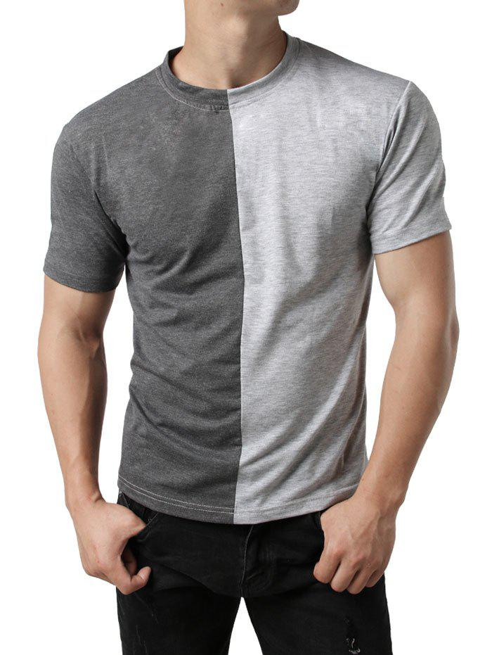 Trendy Color Block Patchwork Casual T-shirt