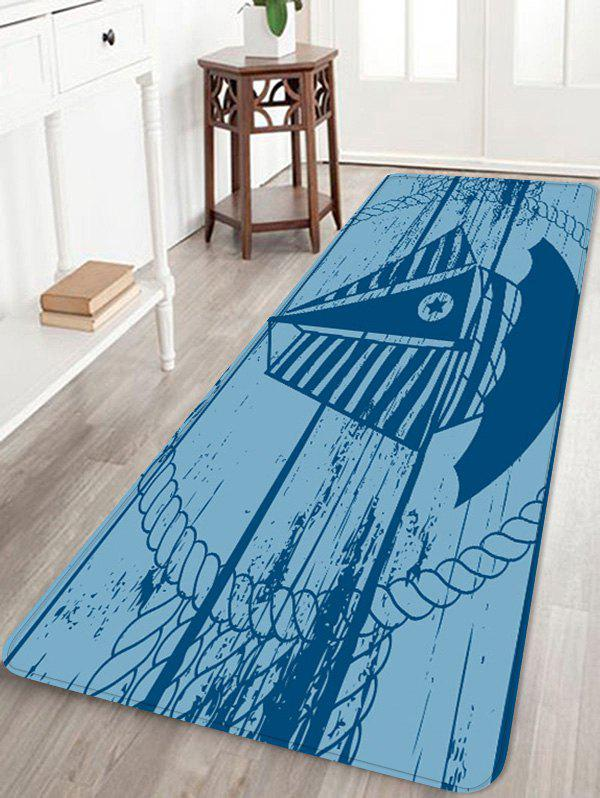 Trendy Star Sailboat Print Anti-skid Area Rug