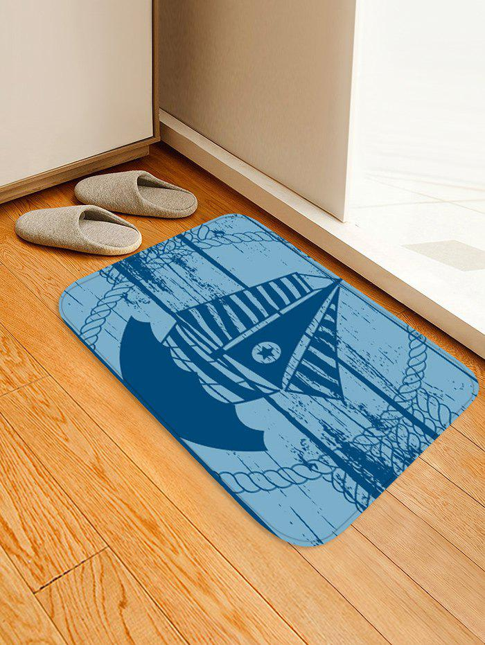 Fancy Star Sailboat Print Anti-skid Area Rug