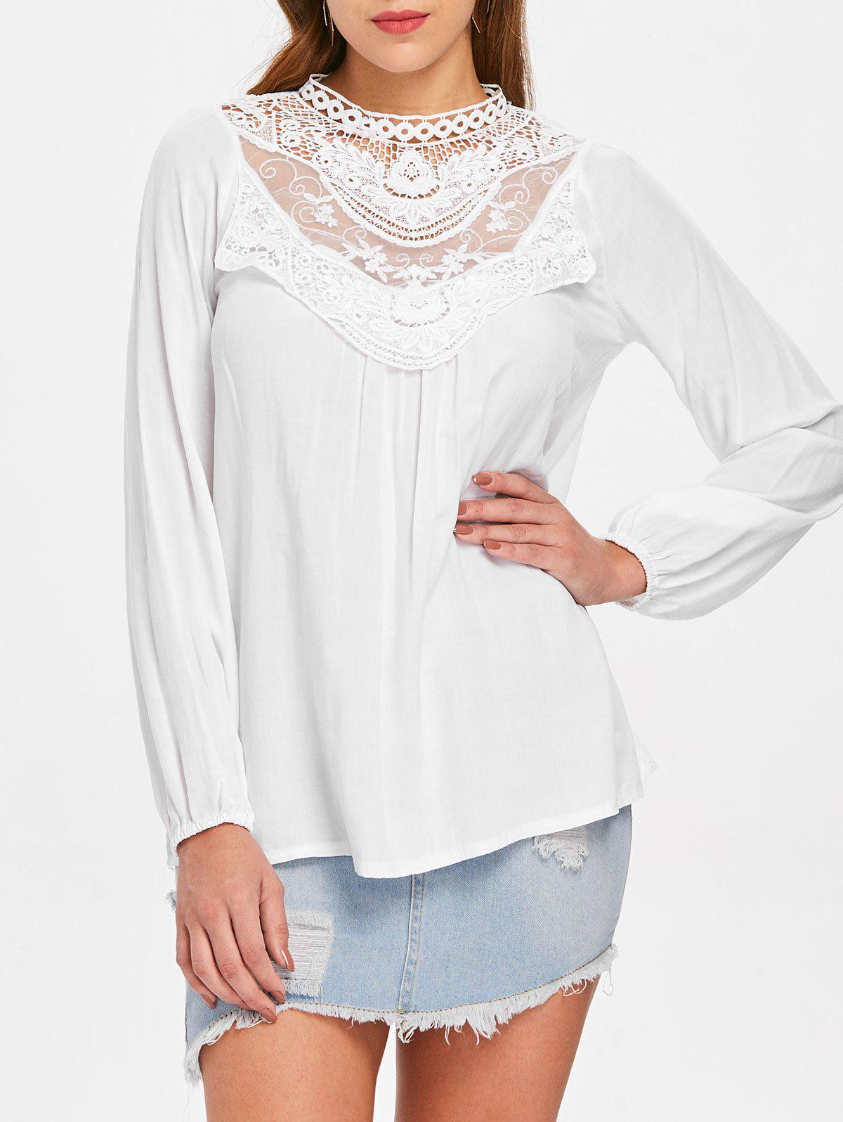 Outfits Lace Crochet Long Sleeve Top