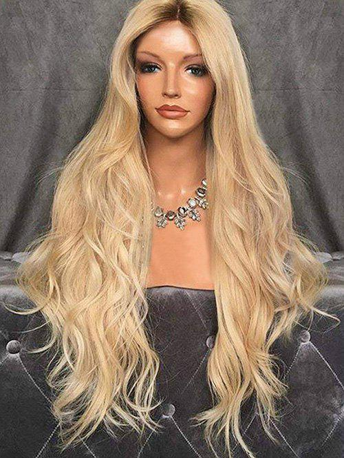 Trendy Long Center Parting Wavy Capless Synthetic Wig