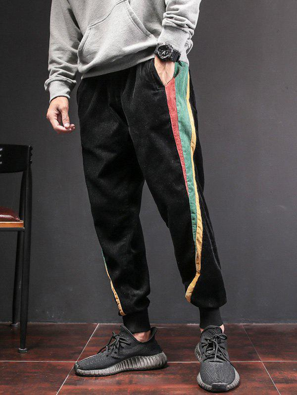 Shop Side Contrast Patch Pocketed Jogger Pants