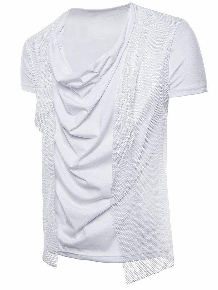 Unique Short Sleeve Voile Embellished T-shirt