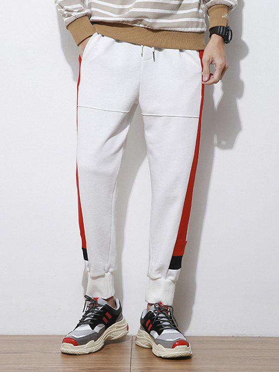 Shop Side Letter Stripes Contrast Patch Jogger Pants