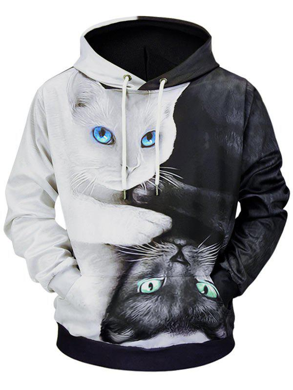 Outfits Casual 3D Cats Printed Soft Hoodie