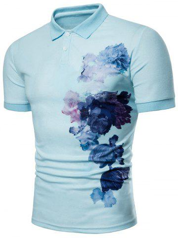 Side Flowers Painting Print Casual T-shirt