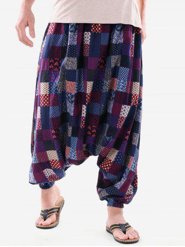 Ethnic Flower Heart Print Harem Pants