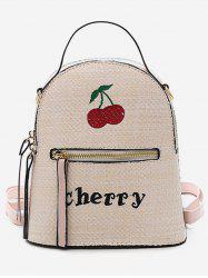 Leisure Going Out Vacation Straw Backpack -
