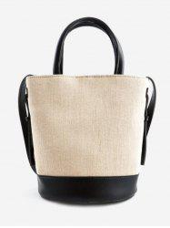 Convertible Color Block Canvas Tote Bag -