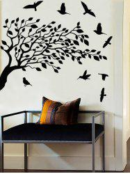 Tree and Birds Print Wall Stickers for Bedroom -